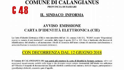 NEWS48 | Calangianus - Addio alla carta d\'identità cartacea; da oggi ...